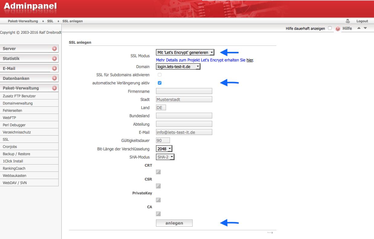 Webhostone Kann Ich Ssl Zertifikate Von Lets Encrypt Nutzen