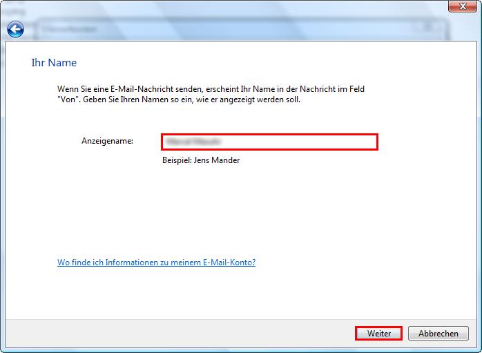 Wie rufe ich meine E-Mails mit Microsoft Vista Mail ab?